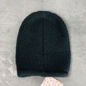 Free People Black Dreamland Knit Beanie O/S  This